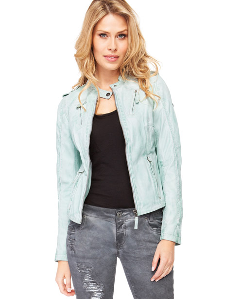 Lederjacke Damen Blue Monkey